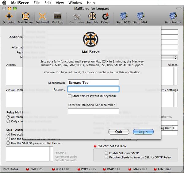 MailServe for Leopard