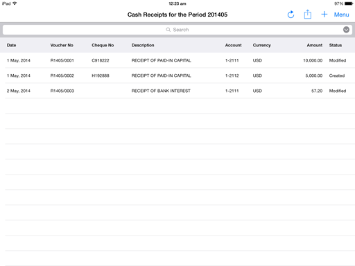 For Cash Receipts From One Off Customers, Or For Receipts Without An  Invoice, Use Journal U003e Cash Receipts. Examples Of Such Cash Receipts Are  Receipt Of ...  Examples Of Cash Receipts